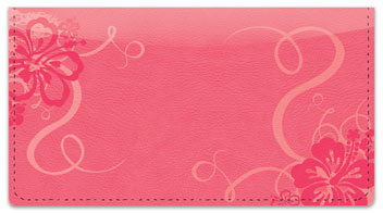 Hibiscus Flower Checkbook Cover
