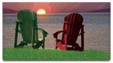 Adirondack Chair Checkbook Cover