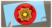 Breakfast Food Checkbook Cover