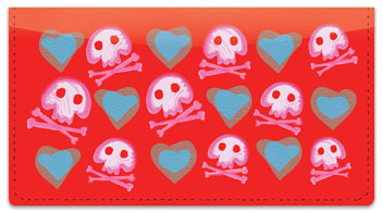 Cute Skull & Crossbones Checkbook Cover