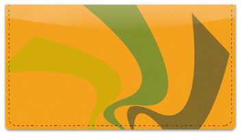 Abstract Orange Checkbook Cover