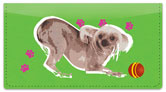 Chinese Crested Dog Checkbook Cover