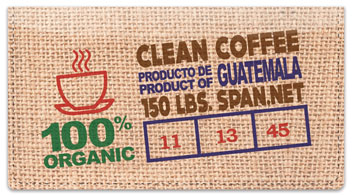 Fair Trade Coffee Checkbook Cover