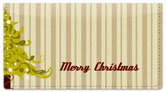 Christmas Tree Checkbook Cover