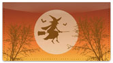 Halloween Witch Checkbook Cover