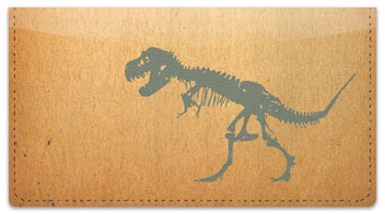 Dino Skeleton Checkbook Cover
