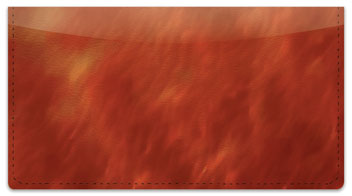Amber Light Wave Checkbook Cover
