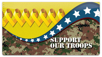 Support Our Troops Checkbook Cover