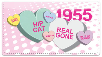 Candy Heart Checkbook Cover