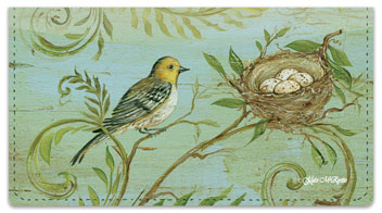 Nature's Nest Checkbook Cover