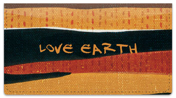 Love Earth Checkbook Cover