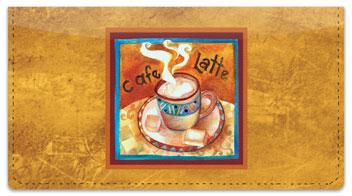 Artsy Coffee Checkbook Cover