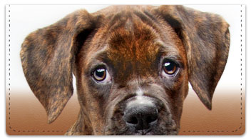 Boxer Pup Checkbook Covers