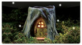 Fairy Home Checkbook Cover