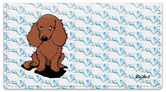 Longhaired Dachshund Checkbook Cover