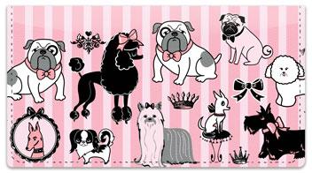 Doggy Boudoir Checkbook Cover