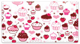Cupcake Shoppe Checkbook Cover by Miss Fluff