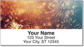 4th of July Fireworks Address Labels