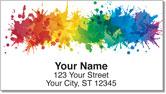 Paint Splatter Address Labels