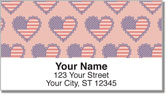 Patriotic Heart Address Labels