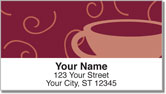 Cup of Coffee Address Labels
