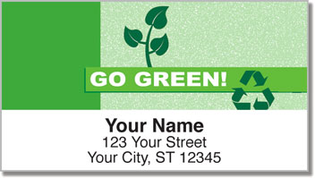 Going Green Address Labels
