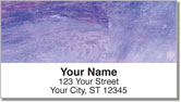 Colorful Brush Stroke Address Labels