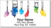 Paintbrush Address Labels