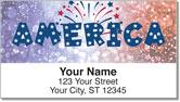 Patriotic Party Address Labels