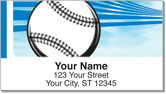 Blue Baseball Fan Address Labels
