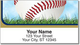 Blue & Gold Baseball Fan Address Labels