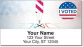 Patriotic Button Address Labels