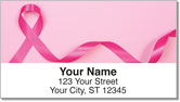 Pink Ribbon Address Labels