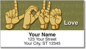 Sign Language Address Labels