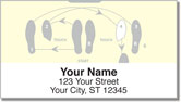 Dance Step Address Labels