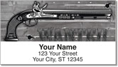 Vintage Gun Address Labels