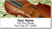 Musical Instrument Address Labels