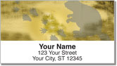 Animal Track Address Labels