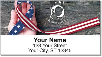 POW MIA Artistic Address Labels