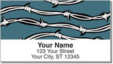 Barbed Wire Address Labels