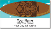 Surfboard Address Labels