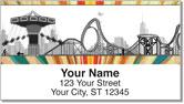 Amusement Park Address Labels