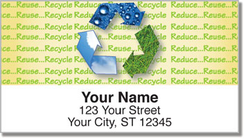 Green Living Return Address Labels