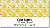 Beach Pattern Address Labels