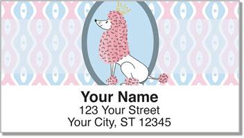Pink Poodle Address Labels
