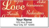 Foreign Language Address Labels