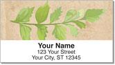 Painted Leaf Address Labels
