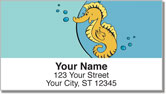 Silly Seahorse Address Labels