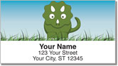 Cute Dino Address Labels