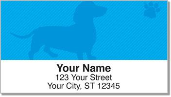 Wiener Dog Address Labels
